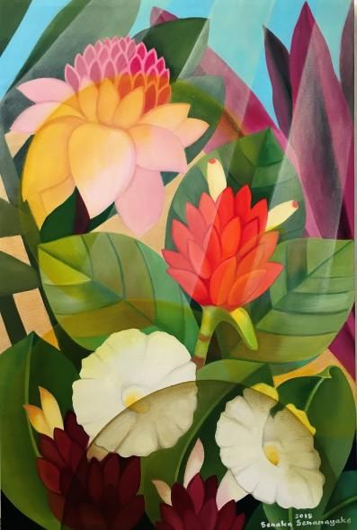 Senaka Senanayake Garden, 2018 Oil on canvas 91 x 60.9 cm 35 7/8 x 24 in
