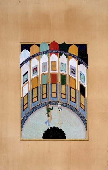 Elisabeth Deane b. 1985My Persian Studio, 2019 Gold leaf, natural pigments and Arabic gum on handmade Indian hemp paper 31.7 x 22.3 cm 12 1/2 x 8 3/4 in