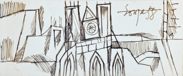 Francis Newton Souza, Untitled (Westminster Abbey), 1958