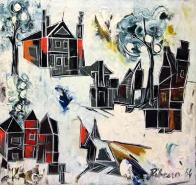 Lancelot Ribeiro, Untitled (White Landscape), 1964