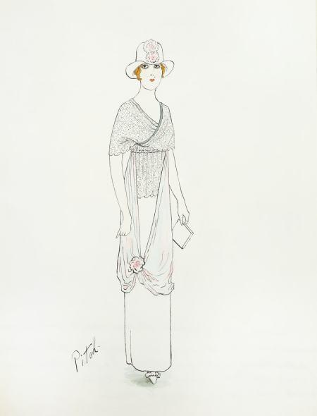 Romain de Tirtoff dit Erté, Afternoon dress, 1912