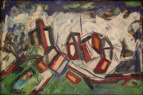 Lancelot Ribeiro, Green Landscape, 1966