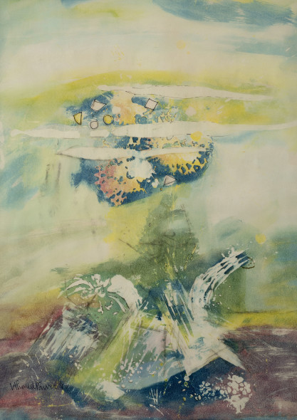 Ahmed Parvez, Metaphorical Landscape I, 1962