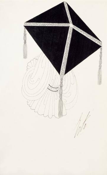 Romain de Tirtoff dit Erté, Umbrella design for Harper's Bazaar, 1917