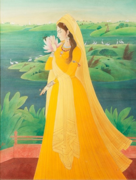 Abdur Rahman Chughtai, Usha (First Rays of the Morning Sun), c.1967