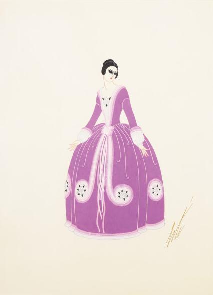 Romain de Tirtoff dit Erté, Costume for Maria Kouznetsoff, 1923