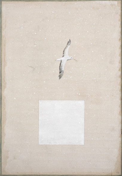 Elisabeth Deane b. 1985Albatross Snow Dream, 2017 Natural pigment and Arabic gum on antique Indian paper 31.5 x 21.5 cm 12 3/8 x 8 1/2 in