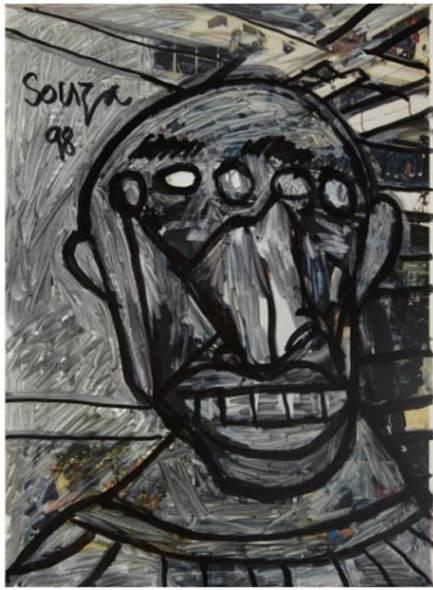 Francis Newton Souza, Untitled (Face), 1998