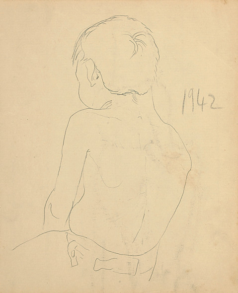 Francis Newton Souza, Untitled (Back of Boy), 1942