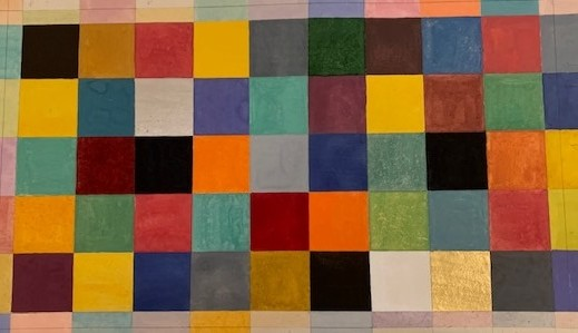 Elisabeth Deane b. 1985It's All about the Colours, 2019 Natural pigments and Arabic gum on handmade Indian hemp paper 49 x 36.2 cm 19 1/4 x 14 1/4 in