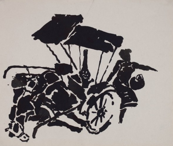 Maqbool Fida Husain, Untitled (Laden Cart)
