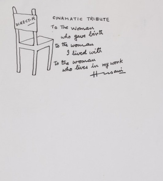 Maqbool Fida Husain, Untitled (Director's Chair)