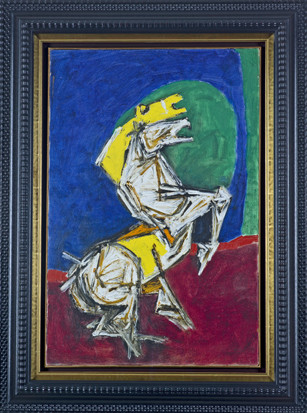 Maqbool Fida Husain, Untitled (White Horse), 1967