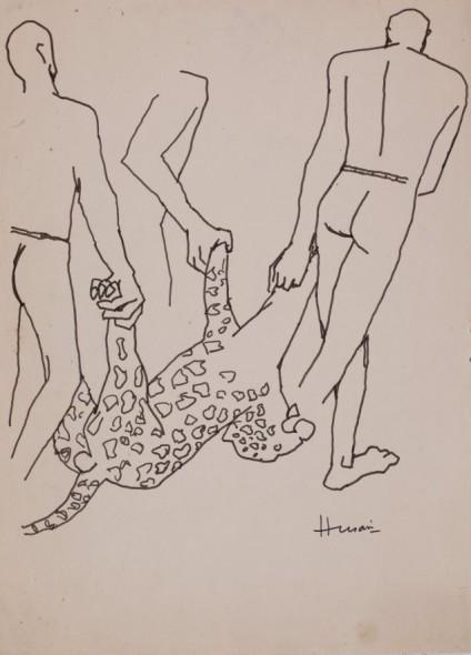 Maqbool Fida Husain, Untitled (Leopard)