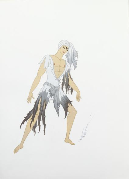 Romain de Tirtoff dit Erté, The Prince in the Destert (Scheherazade), 1975