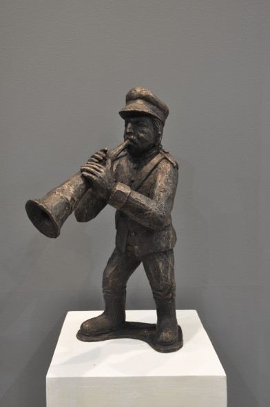 Krishen Khanna b. 1925Untitled (Bandwalla with trumpet), 2019 Bronze edition of 9 + 2 AP height 55.9 cm height 22 in