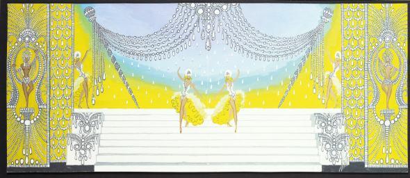 Romain de Tirtoff dit Erté, 'Diamonds' (stage set), 1963