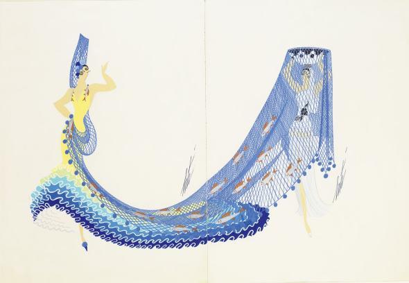 Romain de Tirtoff dit Erté, The Gualdalquiver (The Rivers), 1946