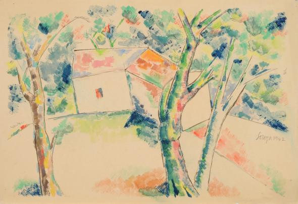 Francis Newton Souza, Untitled (landscape), 1942