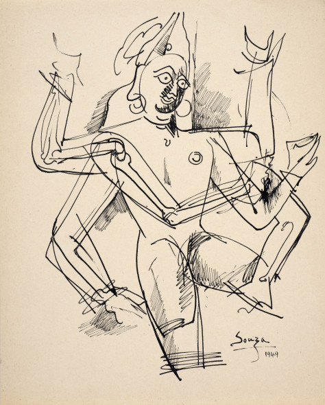 Francis Newton Souza, Untitled (Vishnu), 1949