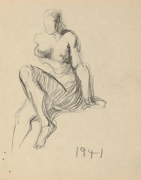 Francis Newton Souza, Untitled (Nude figure) , 1941