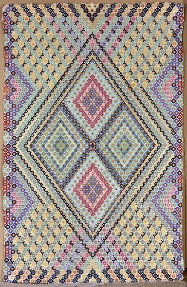 Elisabeth Deane b. 1985The Illuminated Carpet, 2019 Italian gold leaf, palladium leaf, shell gold, natural pigments and Arabic gum on handmade Indian hemp paper 146 x 94 cm 57 1/2 x 37 1/8 in