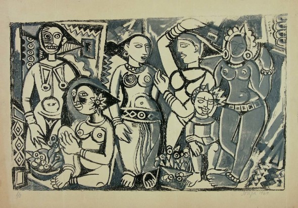 Francis Newton Souza, Untitled, 1949
