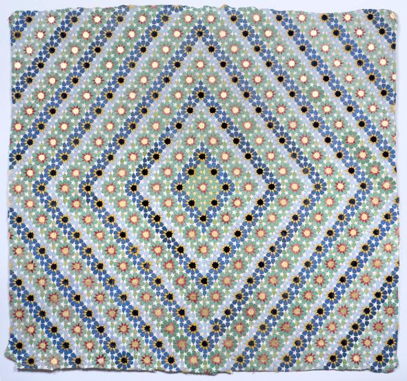 Elisabeth Deane b. 1985Pulse, 2019 Italian gold leaf, natural pigments and Arabic gum on handmade Indian hemp paper 50 x 51.5 cm 19 3/4 x 20 1/4 in