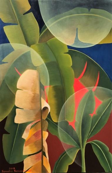 Senaka Senanayake Banana Grove, 2018 Oil on canvas 91.4 x 60.9 cm 36 x 24 in