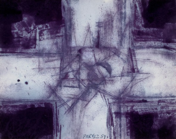 Ahmed Parvez, Purple Cross (Positive), 1959