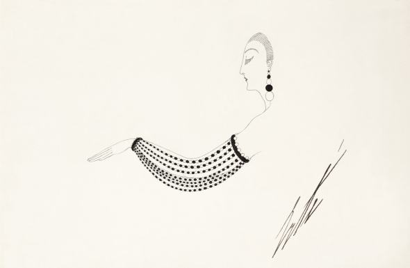 Romain de Tirtoff dit Erté, Bracelet of pearls and polished jade, 1922
