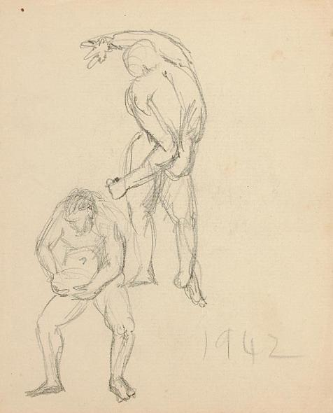 Francis Newton Souza, Untitled (Figure Studies), 1942