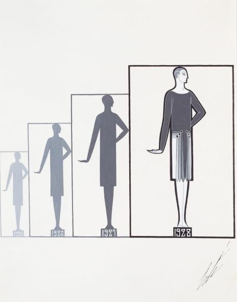 Romain de Tirtoff dit Erté, Silhouettes, 1925-1928, 1929