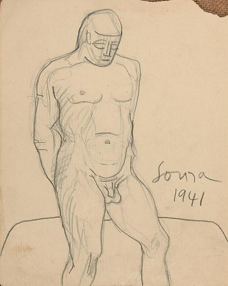 Francis Newton Souza, Untitled (Nude), 1941