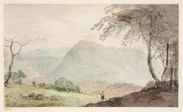 William Daniell 1769-1837Agoursee, Bihar Pen and wash on paper 10 x 17 cm 4 x 6 3/4 in