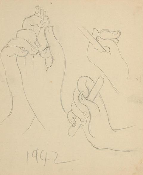 Francis Newton Souza, Untitled (Hands) , 1942