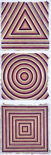 Elisabeth Deane b. 1985The Alchemist (Deconstructed), 2019 Gold leaf, platinum and palladium leaf, natural pigments and Arabic gum on handmade Indian hemp paper 37 x 37 cm each. 14 5/8 x 14 5/8 in each