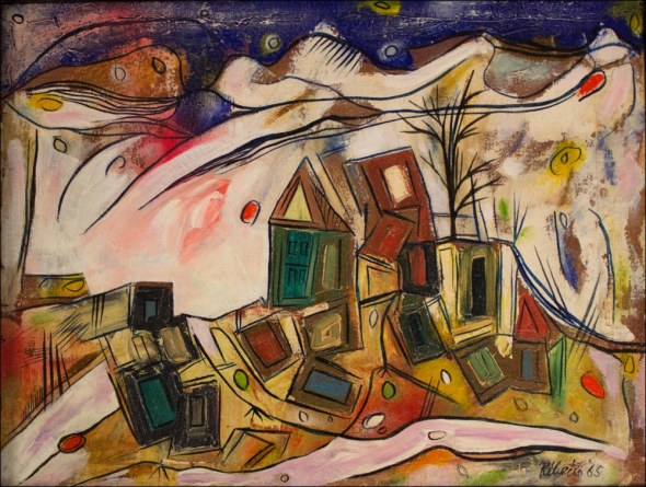 Landscape with Tumbling Houses, 1965