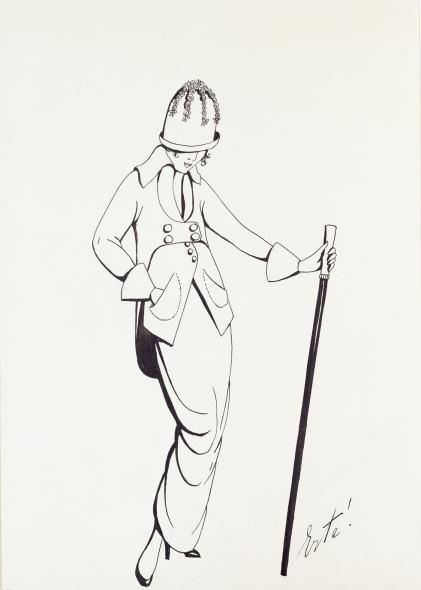 Romain de Tirtoff dit Erté, Costume for Poiret, 1913