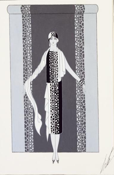 Romain de Tirtoff dit Erté, Dress, 1928