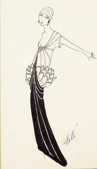 Romain de Tirtoff dit Erté, Evening Dress, 1914