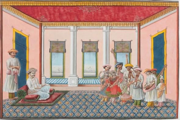 Nautch Scene, circa 1830-40