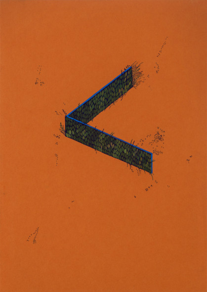 Wardha Shabbir b. 1987A Sign, 2019 Gouache on paper 29.7 x 21 cm 11 3/4 x 8 1/4 in