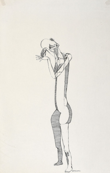 Dumile Feni, Untitled (Standing Figure), 1968