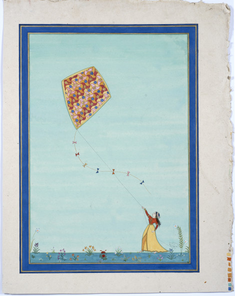 Elisabeth Deane b. 1985Kite (Fly with faith), 2019 Gold leaf, natural pigments and Arabic gum on handmade Indian hemp paper 51.1 x 36 cm 20 1/8 x 14 1/8 in
