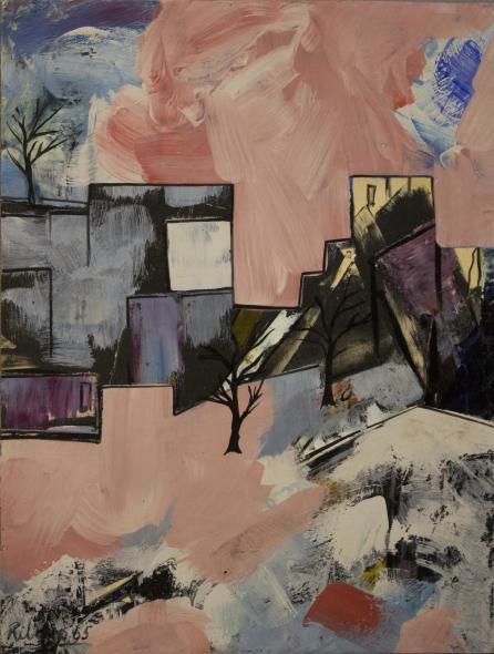 Lancelot Ribeiro, Untitled (Pink Landscape), 1965