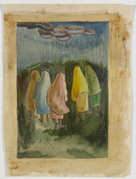 Francis Newton Souza, Goan Rains, 1942