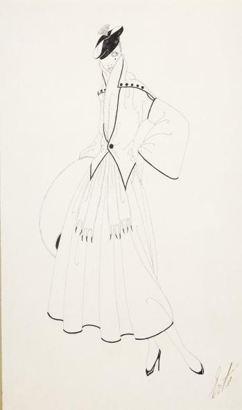 Romain de Tirtoff dit Erté, Costume design for Harper's Bazar, 1915