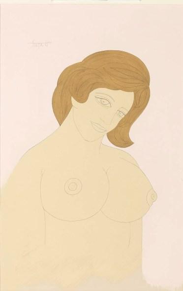 Francis Newton Souza, Nude (Kalam Series), 1965