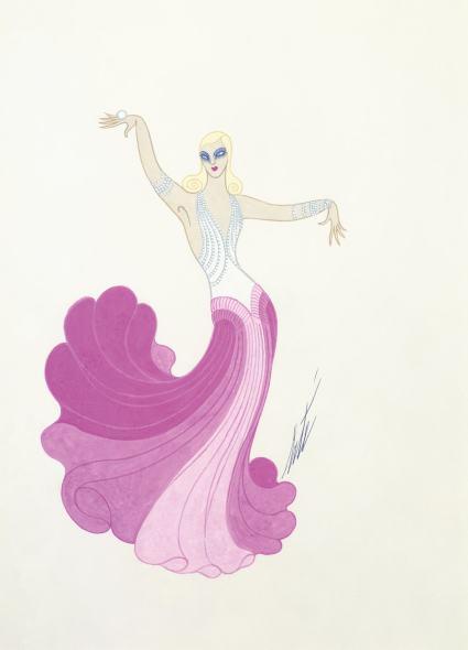Romain de Tirtoff dit Erté, Ginger Rogers costume, 1975